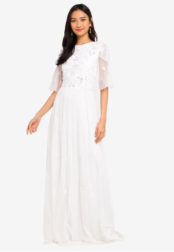37691331e1 Frock and Frill white Amelia Rose Embellished Maxi Dress 6322AAAA7F5187GS_1