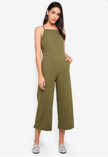 WAREHOUSE green Square Neck Jumpsuit BD1EEAA3EB12BAGS_1