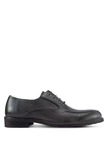 ZALORA black Closed Lace Oxford Shoes D50A4SH9863F46GS_1