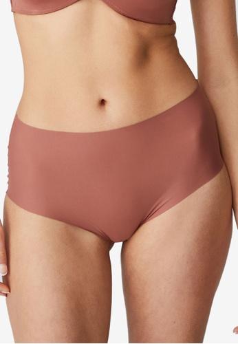 Cotton On Body brown The Invisible High Cut Bikini Brief D0CD1USB97B060GS_1