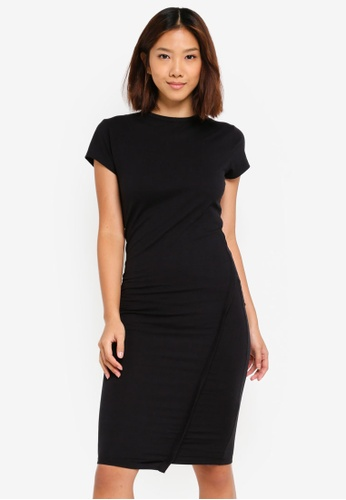 Cotton On black Anthea Short Sleeve Midi Dress 0584AAAFAFFEDFGS_1