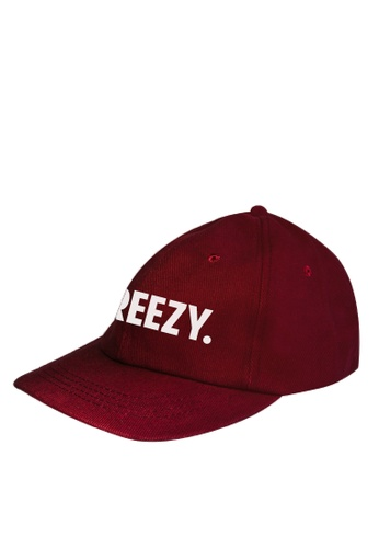 HYPE MNL red Breezy Maroon Baseball Cap FB7D9ACB6C3484GS_1