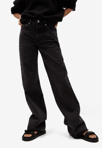 Mango grey Wide Leg High Waist Jeans 1E9D3AAA72C694GS_1
