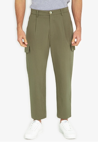 ZALORA BASICS green Tailored Utility Pants 21D19AACBAF3D4GS_1