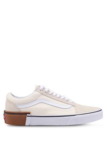 VANS yellow Old Skool Gum Block Sneakers 46853SH54558B4GS_1