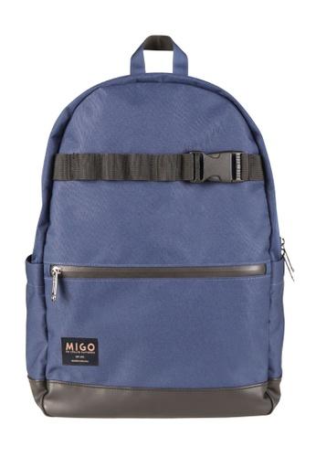 Migo blue Casino U6 Backpack MI595AC2UT64HK_1