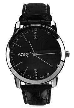 NARY Women's Leather Quartz Watch - 6072