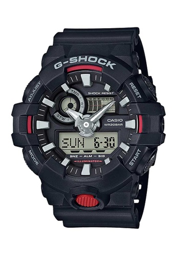CASIO black Casio G-shock Red and Black Resin Watch 53FF5AC0D0EB42GS_1