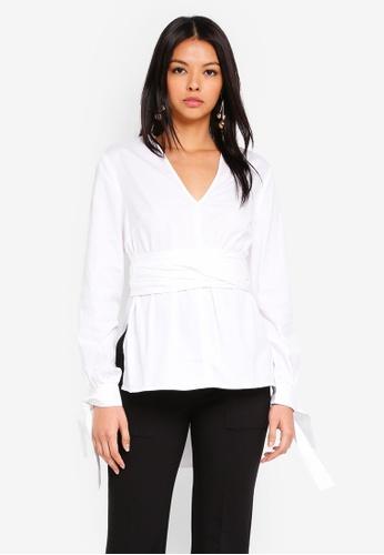 Finders Keepers white Fleeting Blouse 14C80AA647B45EGS_1
