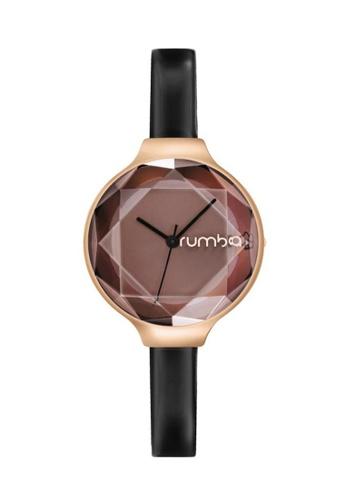 RumbaTime black Rumbatime Orchard Gem Patent Watch Black RU023AC2W1AHHK_1