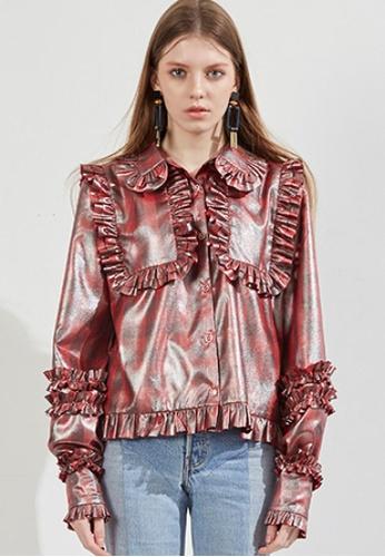 Workwear multi Red Shiny Coating Shirts WO056AA67FIISG_1