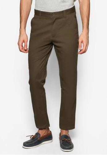 簡約棉質長褲, 服飾esprit tw, 直筒褲