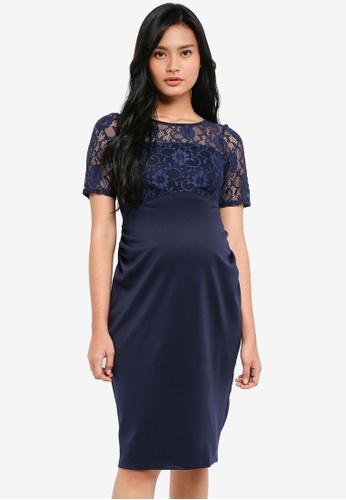 Dorothy Perkins navy Maternity Sucba Lace Dress Navy CEFF5AA42F5C5EGS_1