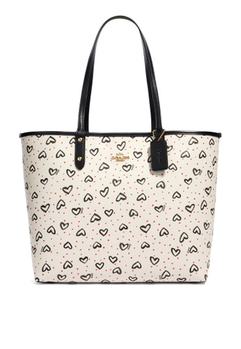 Coach white Reversible City Tote Bag (cv) 9BC24ACD5CB425GS_1