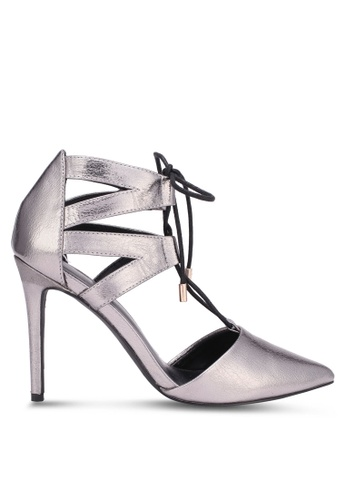 Something Borrowed silver Cut Out Pointed Heels 79032ZZ6536EC5GS_1