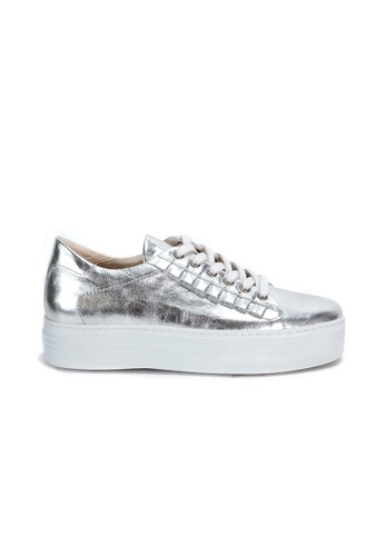 Shu Talk silver Stylish Leather Sneakers 47525SH103AED2GS_1
