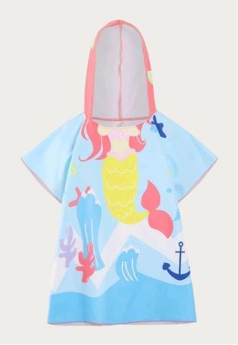 Mommy Hugs blue and multi Under the Sea Poncho Hooded Towel swimwear 2082AKA9FEA4F4GS_1