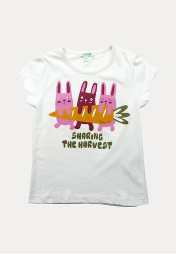 Bossini white Bossini Kids Girl T-Shirt Off White (74080915002) 8401AKAB84D5FDGS_1