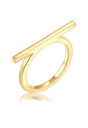 ELLI GERMANY gold Elli Germany Geo Minimal Blogger 925 Silver Gold Plated Ring D18B9ACCEF490EGS_1