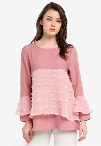 BYN pink Muslimah Blouse BY059AA0S0XMMY_1