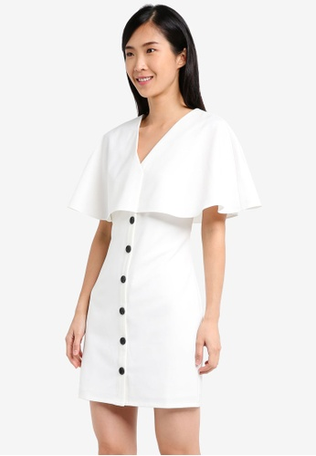 ZALORA white Capelet Dress 5FD1FAA7EC1139GS_1