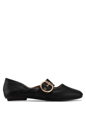 Alfio Raldo black Round Tip Ballerina Flats 5CF61SH8A710DEGS_1