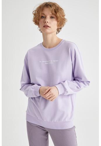 DeFacto purple Woman Knitted Sweat Shirt 83CFBAA797A6FBGS_1
