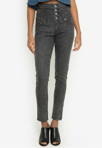 NEXT grey High Waist Skinny Fit Jeans NE725AA0JXKHPH_1