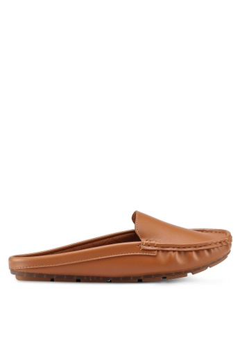 Bata brown Faux Leather Loafers BB597SH79AA7A2GS_1