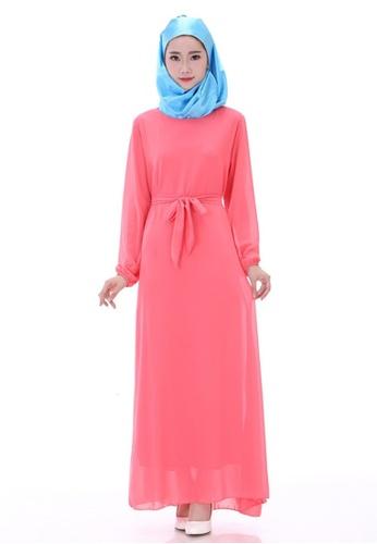 SMROCCO pink Muslimah Melon Basic Jubah Dress MW6012-MEL SM066AA32NKXMY 1 d20516f28d