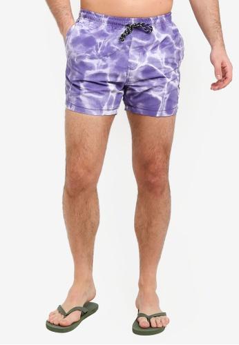 Factorie 紫色 休閒短褲 9D54BAA48FF5F7GS_1