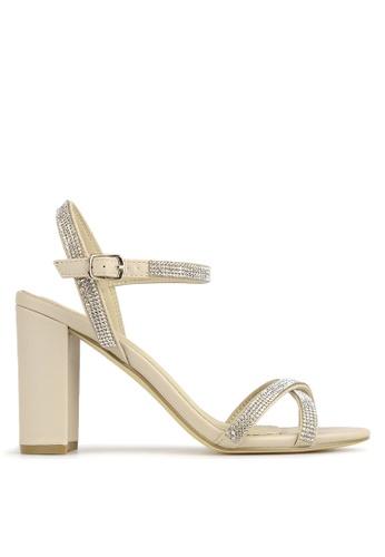 Betts beige Hopeful Bling Strap Block Heels 3FFB4SH65A2139GS_1