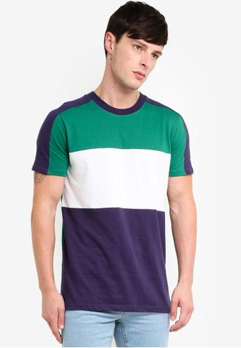 Factorie 多色 Slim Panelled T Shirt A4C93AA6095F2EGS_1