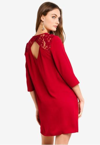 Vero Moda red Ricky 3/4 Short Dress 01831AAFFF4C1EGS_1