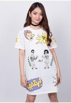 White Cartoon Shirt