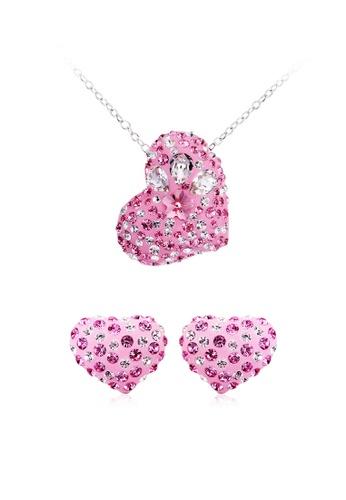 Urban Outlier OUXI Romantic Heart Necklace Earrings Set A16A2AC33144ACGS_1