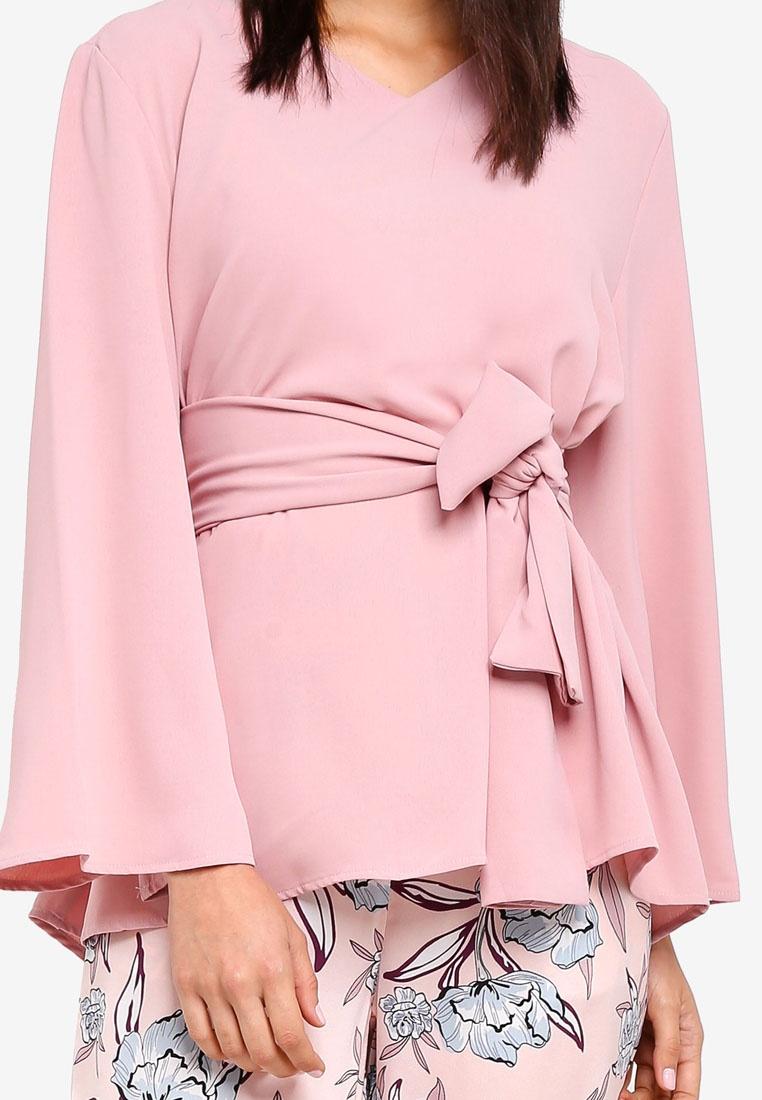 Top Pink Waist Dusty Tie Zalia Xf8qEZ