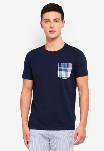Brooks Brothers 海軍藍色 口袋T恤 8F04EAA1C6E6F6GS_1