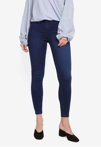 TOPSHOP blue Moto Clean Indigo Joni Jeans 41CC1AAD0F393AGS_1