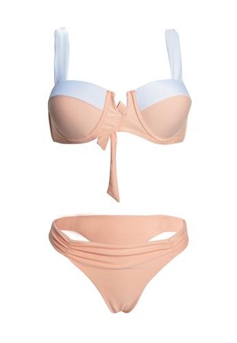 LYCKA beige LWD7215-European Style Lady Bikini Set-Beige EBA52USBF4DCA2GS_1