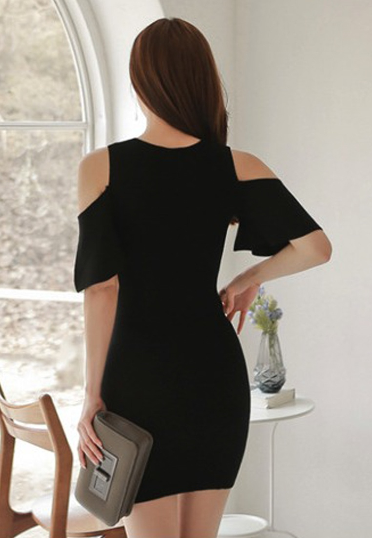 dress Shoulder New Black Waist Black Sunnydaysweety One Repair Piece 2018 A060426 Off qfHgwWHxn