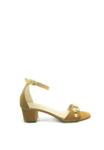 Beauty Shoes brown Beauty Shoes Tirza 408 Heels Tan 3FF44SH20C5957GS_1
