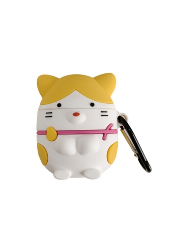 Kings Collection yellow Cutie Yellow Meow AirPods Case (KCAC2058) C9A68AC6C2BFE2GS_1