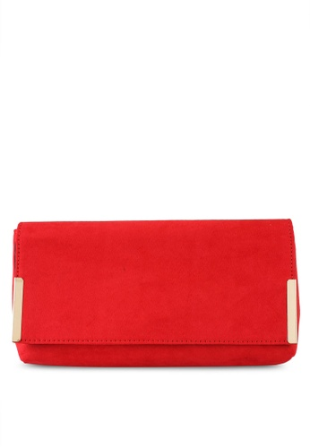 Dorothy Perkins red Red Metal Side Bar Clutch F075EAC5E8B750GS_1