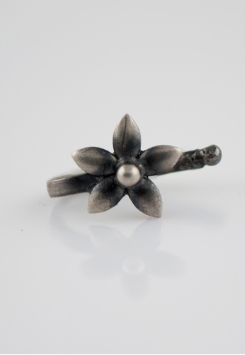 Aadyaa Singapore silver Nose-Pin Periwinkle - Clip on 6F6FAAC2713836GS_1