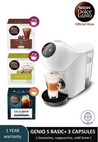 NESCAFE Dolce Gusto white GENIO S BASIC Automatic Coffee Machine with 3 boxes of NESCAFE Dolce Gusto capsules 5D381ES832EFF7GS_1