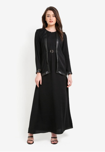 JubahSouq black Luvina Black Label X Colour Jubah JU399AA0RNS0MY_1