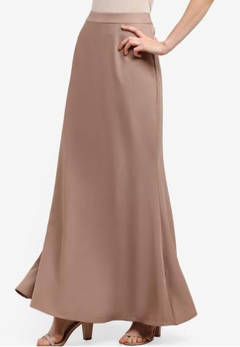 Soonaru brown Mermaid Skirt SO016AA11PDCMY_1