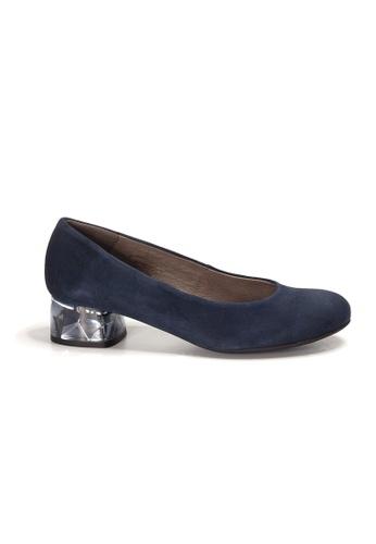 Shu Talk blue WONDERS Suede Leather Crystal Blocked Heels BED1FSH281A626GS_1