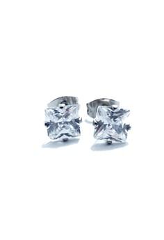 Stainless Steel 6mm Princess Cut Earrings